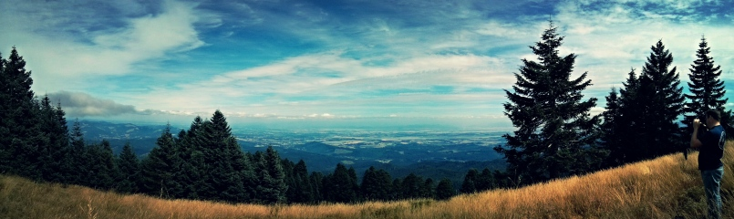 Cool panorama view, finally at the top!