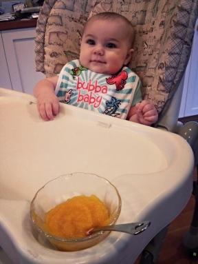 Nora's first butternut squash