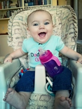 Such a good girl in her highchair