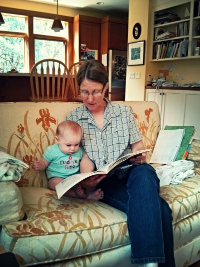 Reading books with Gramma Janet
