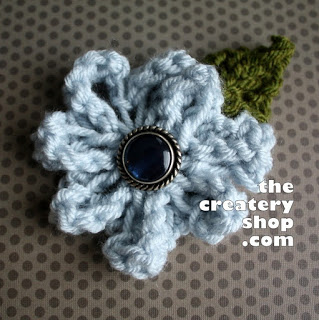 Easy Elegant Knit Flower ♥ The Createry Shop