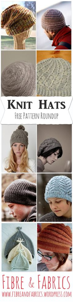 FREE Pattern Roundup - Knit Hats | Fibreandfabrics Blog