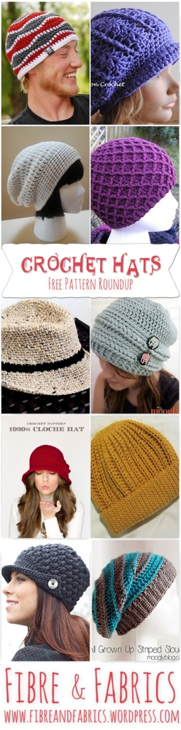 Fibreandfabrics blog - FREE Pattern Roundup - Crochet Hats