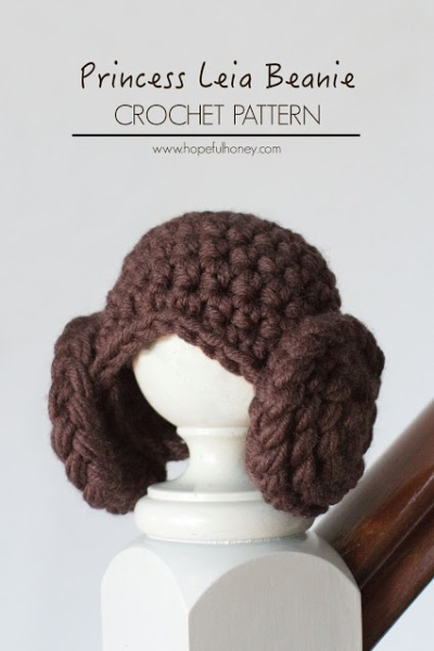Free Crochet Pattern | Princess Leia Inspired Beanie by hopefulhoney.com