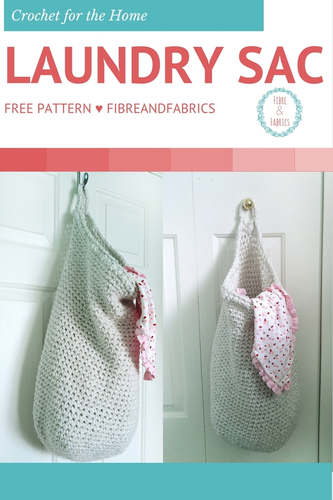 Crochet Laundry Sac free pattern modification up on my blog! #crochet #fibreandfabrics