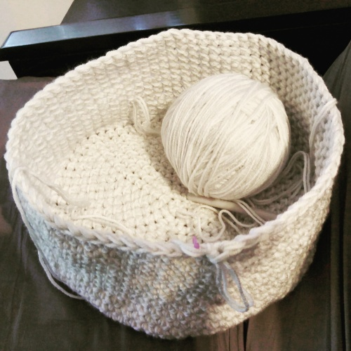 WIP Crochet Laundry Sac - @fibreandfabrics