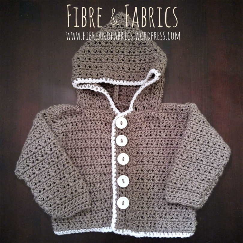 Off the Hook | Crochet Baby Hoodie @fibreandfabrics