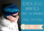 Endless Waves - Free #knitting pattern on @fibreandfabrics blog