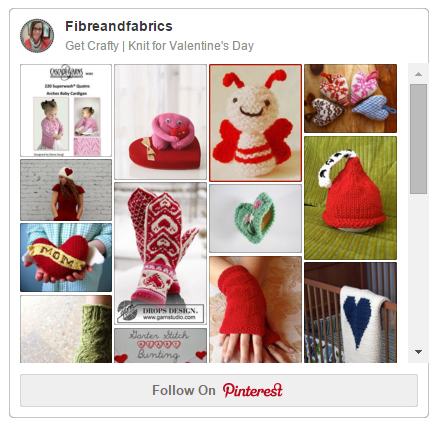 Get Crafty ♥ #Knit for Valentine's Day - @fibreandfabrics Pinterest Board