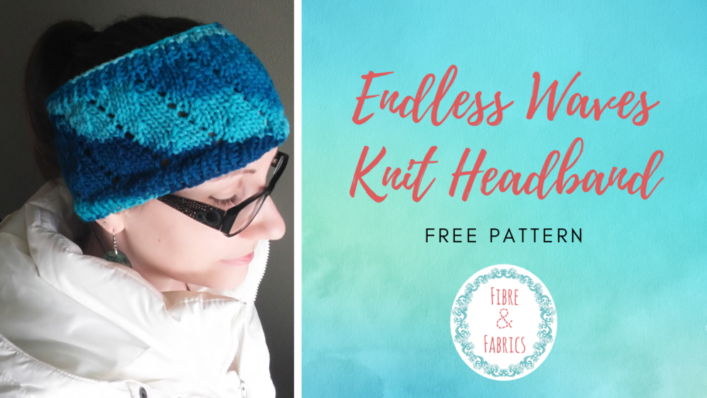 Header Endless Wave Knit Headband Free Pattern by Fibreandfabrics