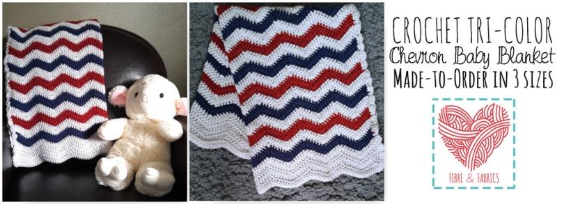 Shop @Fibreandfabrics on #Spreesy - #crochet chevron baby blanket *Made to Order*    https://www.spreesy.com/FibreandFabrics/8