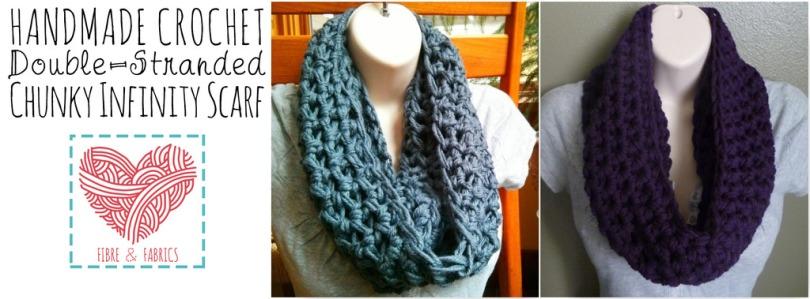 Handmade #crochet double-stranded Chunky Infinity Scarf *Made to Order* | https://www.spreesy.com/FibreandFabrics/6