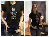 Keep Calm Carry Yarn Shirt on Zazzle