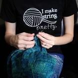 I Make String Pretty Dark T-Shirt available on Zazzle