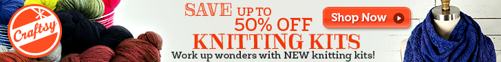 Save up to 50% off Knitting kits on Craftsy