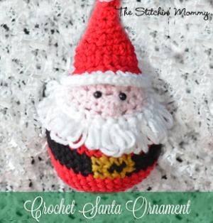#Crochet Santa Ornament - Free Pattern