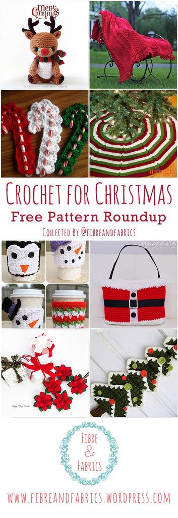 Crochet for Christmas • Free Pattern Roundup via @fibreandfabrics • #crochet #christmas #patternroundup