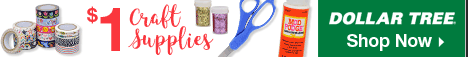 Shop Dollar Tree for all your crafting needs at only $1 each!