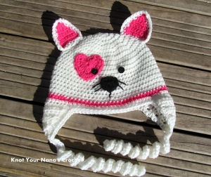 Free #Crochet Pattern - Valentines Kitty Hat